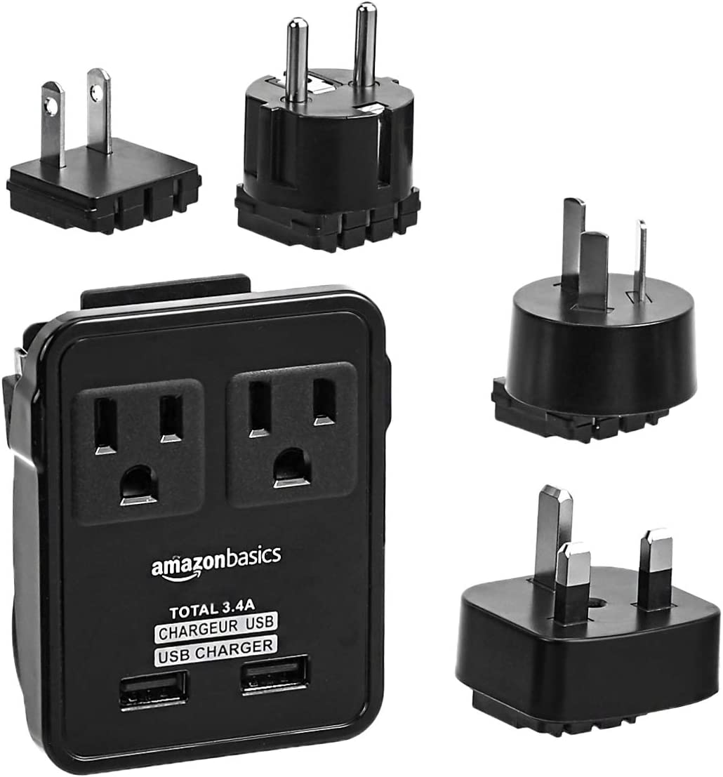 AmazonBasics 2-Outlet Universal Adapter