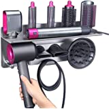 Hair Dryer Holder for Dyson Supersonic Hair Dryer, for Dyson Airwrap Styler Organizer Storage Shelf 2in1 Wall Mounted…