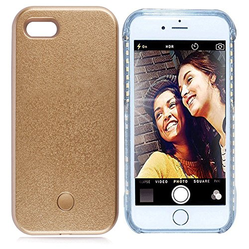 Vanjunn Iphone 5S 5SE Selfie LED Light Case - For Cell Phone with Rechargeable Backup - 5s Iphone Case Instagram