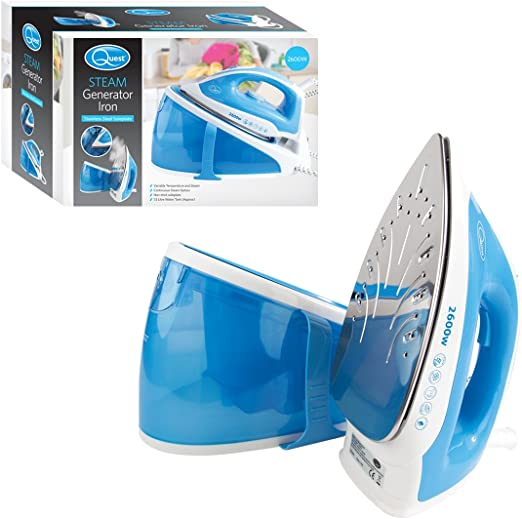 Quest 35460 Steam Generator Iron - Aluminium Steel Soleplate