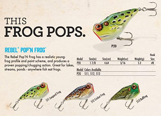 Details about  /TopWater Frog  Rainbow Pro Lure 2 1//2 Inch 14 Grams Blade Frog