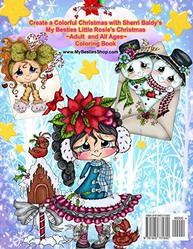 Sherri Baldy My Besties Little Rosies Christmas Coloring Book