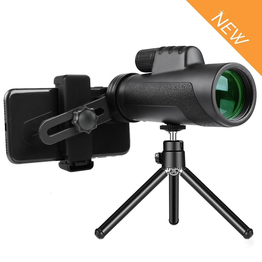 Aigen 12X50 Monocular Telescope for Smartphone with Tripod and Phone Shutter Remote Control Nitrogen Filled Waterproof Fogproof BAK4 Prism FMC Lens One Hand Focus Compact Zoom Highdefinition