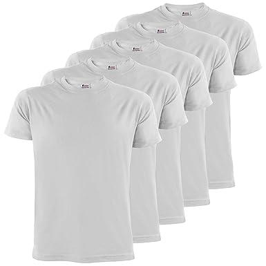 best service dc96f 6b7cb ALPIDEX Herren T-Shirts 5er Set mit Rundhalsausschnitt einfarbig Größe SML  XL XXL 3XL 4XL