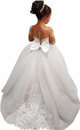Ivory Flower Girl Dress White Lace Flower Girl Dress