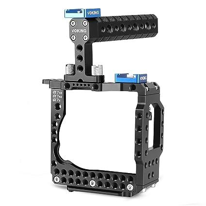 Voking vk-a7s2 K jaula Estabilizador de cámara de vídeo con asa ...