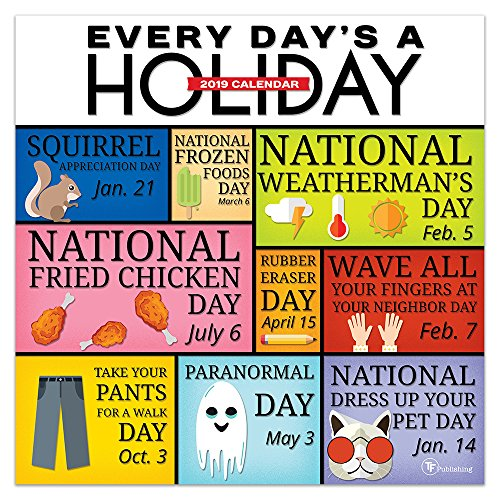 2019 Every Day's A Holiday  Wall Calendar -