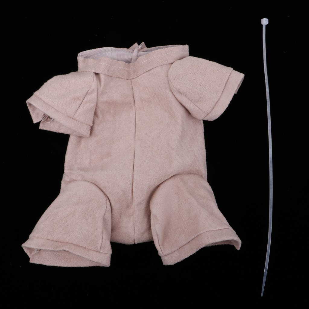 Fenteer 20inch Doll Reborn Cloth Body Suede Fabric Baby Doll Supplies for 3//4 Arm Full Leg Mold DIY Collections