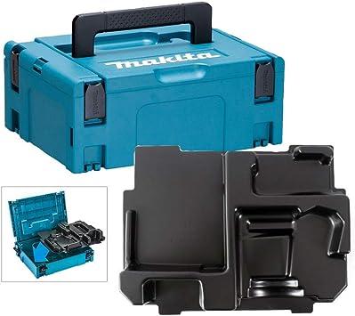 Makita - Caja de herramientas para lijadora orbital Makpac, 18 V, sin cable, con incrustaciones para DBO180 DBO140: Amazon.es: Bricolaje y herramientas