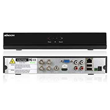 KKmoon 4CH AHD DVR/NVR/HVR Grabadora de Video Full 1080N/720P (HDMI P2P Onvif + 1TB Disco Duro, Android/iOS App, Detección Movimiento, Alarma Email, ...