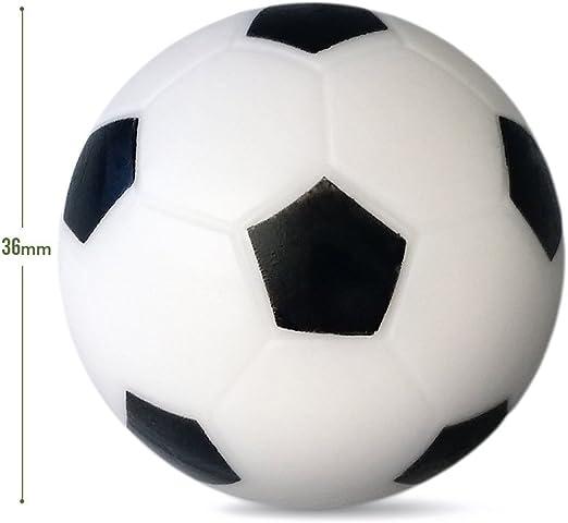 WINOMO tablero blanco y negro pelotas de fútbol 36 mm de reemplazo de futbolín mesa de juego Tamaño 14: Amazon.es: Deportes y aire libre