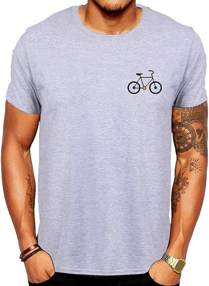 Camiseta Hombre Manga Corta Nuevos Patrones Bicicleta Dibujos ...