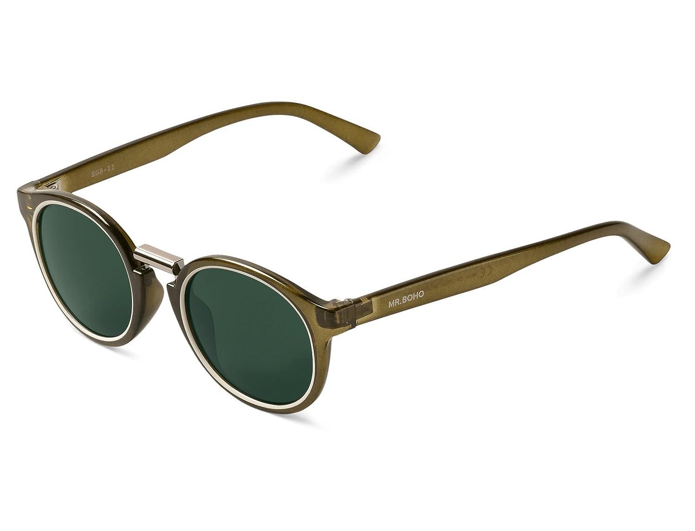 Mr Boho Fitztoy, Gafas de Sol Unisex, Circular Cream/Olive, 41: Amazon.es: Ropa y accesorios