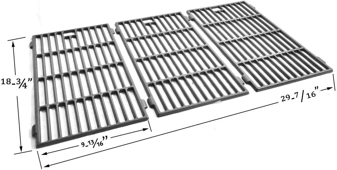 Htanch SES703 Stainless Steel Cooking Grate for Select Kitchen Aid 720-0787D Brand Gas Grill-griddles 3-Pack