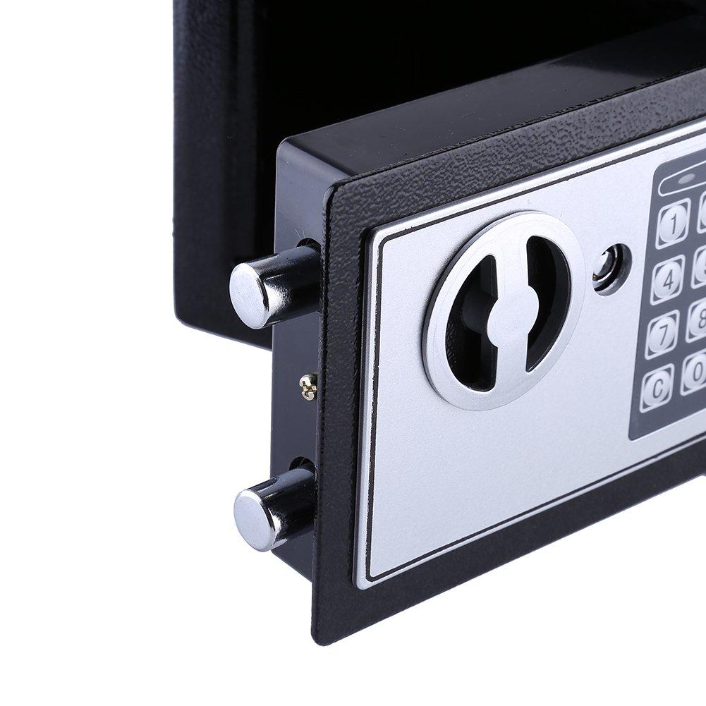 Digital Security Safe nero elettronico in acciaio massiccio Safe Home Office soldi contanti sicuro casella con pin e 2/chiavi