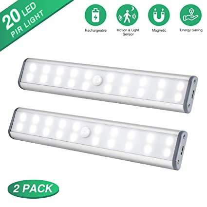 Under Cabinet Lighting 20 Leds Motion Sensor Closet Lights Wireless Led Kitchen Cabinet Lights Night Light Led Battery Lights Motion Led Light