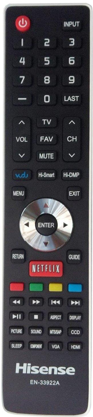 Smartby Replaced Hisense EN-33922A Internet TV REMOTE CONTROL for Hisense Smart Internet TV LHD32K366WUS LTDN40K366NWUS LTDN40K366WUS LTDN50K366GWUS LTDN50K610GW LTDN55K610GW