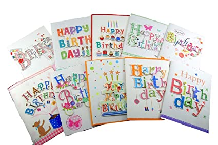 Happy Birthday Handmade Greeting Cards With Music For WomenMen And Children 10 Packs