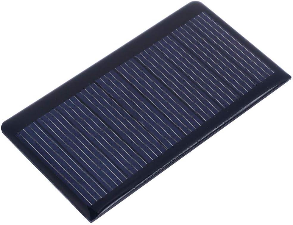 Haihuic Panel Solar Epóxico 5.5V 50mA 0.3W Célula Solar policristalina para el Kit de Cargador de batería Solar de Bricolaje, Mini Celdas solares