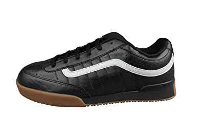 e65645000b1c Vans Mens Leather Black Grey Gum Rowley XL2 Skate Shoes Trainers ...