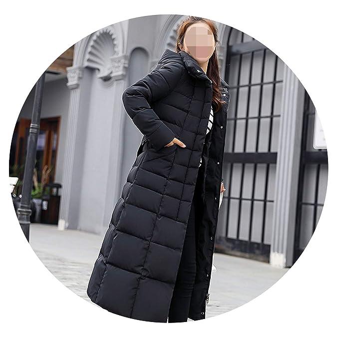 Amazon.com: Khunria-show-outerwear Women Big Fur Belt Hooded Thick Down Female Jacket Slim Warm Winter Outwear 2019 New,Black No Fur,L: Clothing