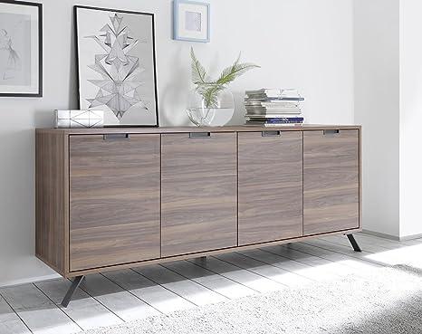 Credenza Moderna 4 Ante Basic : Zenzero shop credenza moderna madia di design ante legno noce