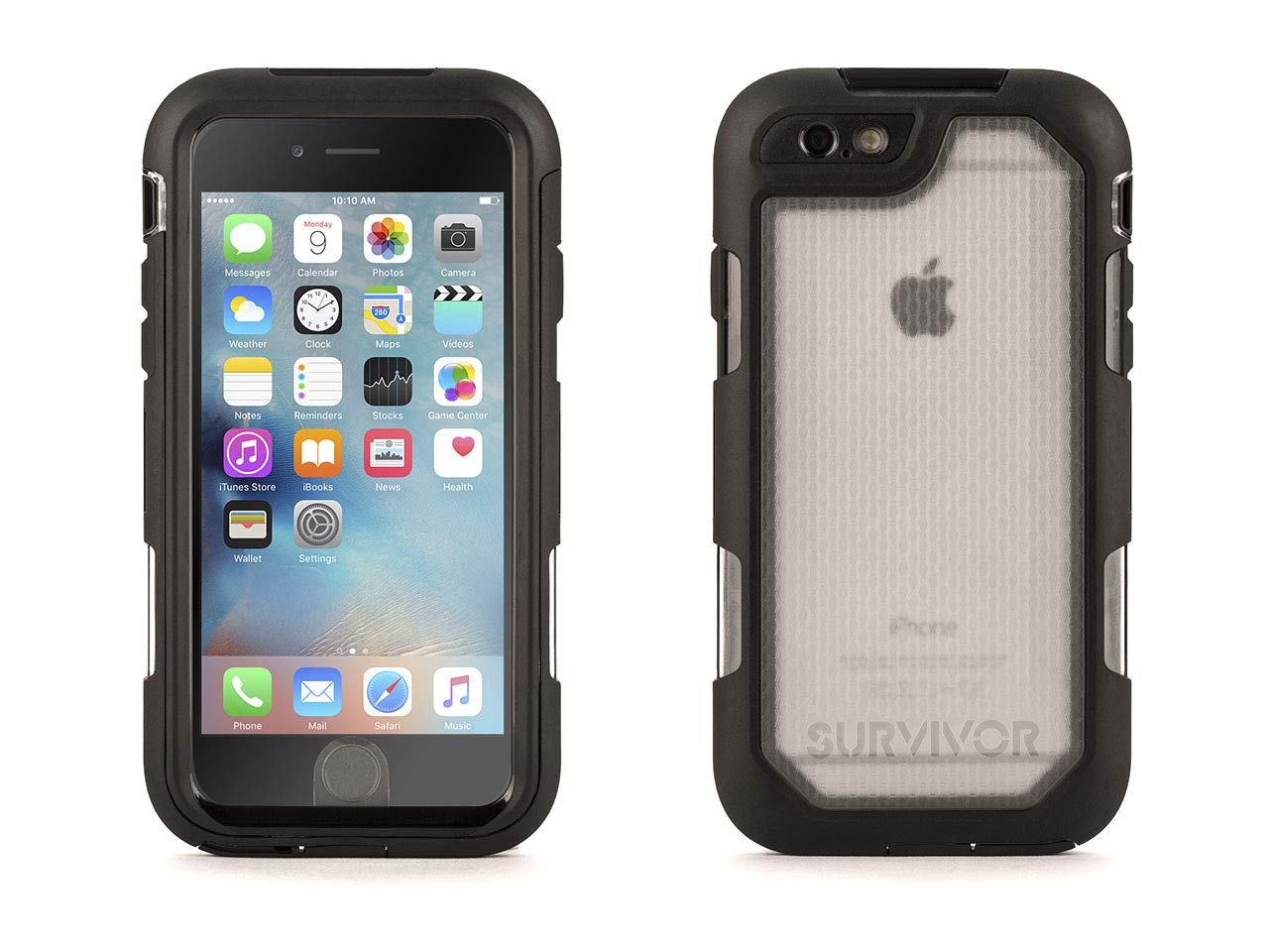 Griffin Survivor Summit Carrying Case for iPhone 6/6s - Clear/Black by Griffin Technology