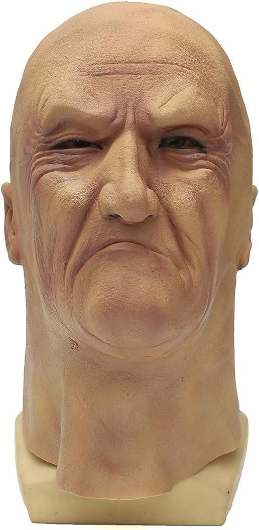 Wooya Realista Viejo Hombre Máscara Disfraz Halloween Fantasía ...