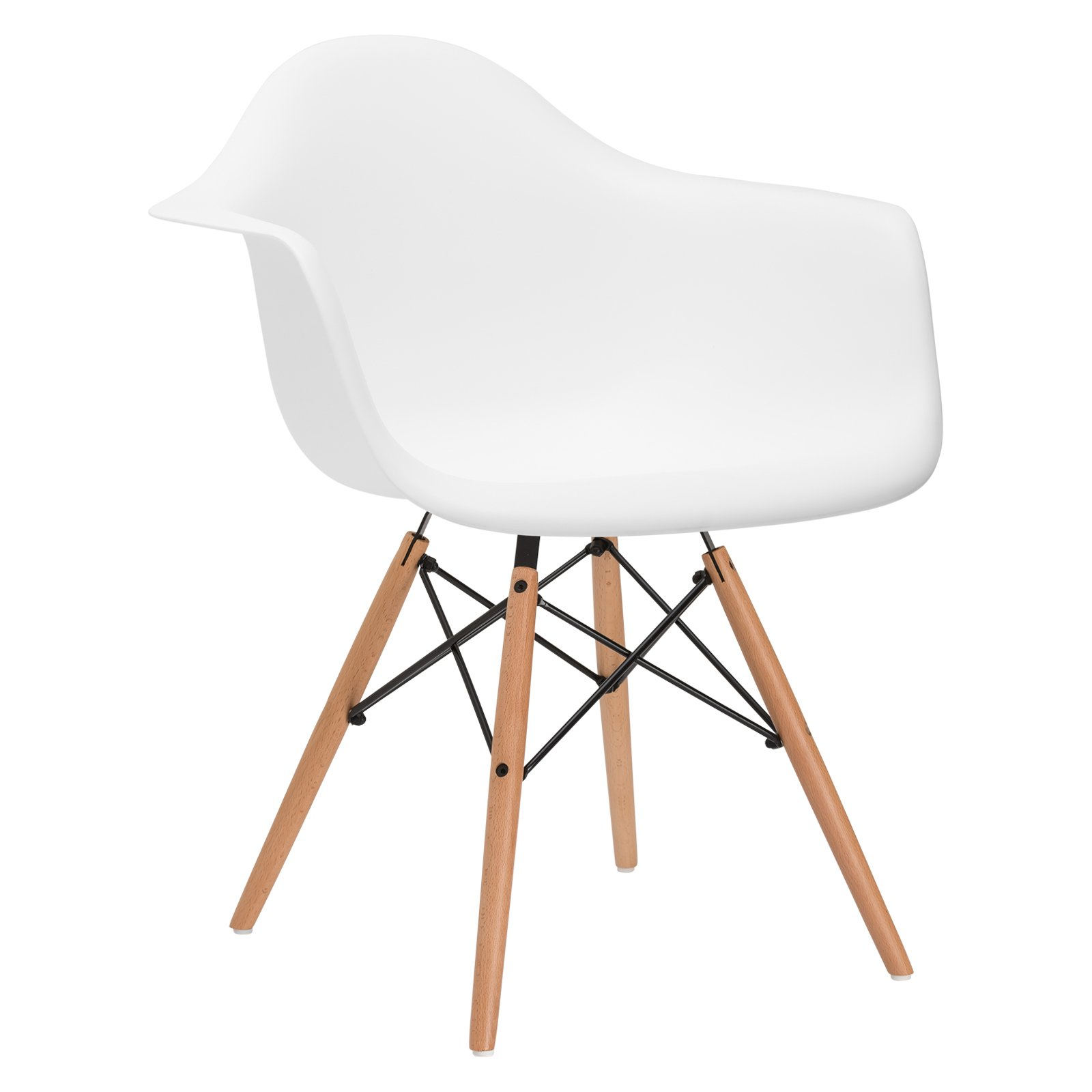 Poly and Bark Vortex Arm Chair, White by POLY & BARK