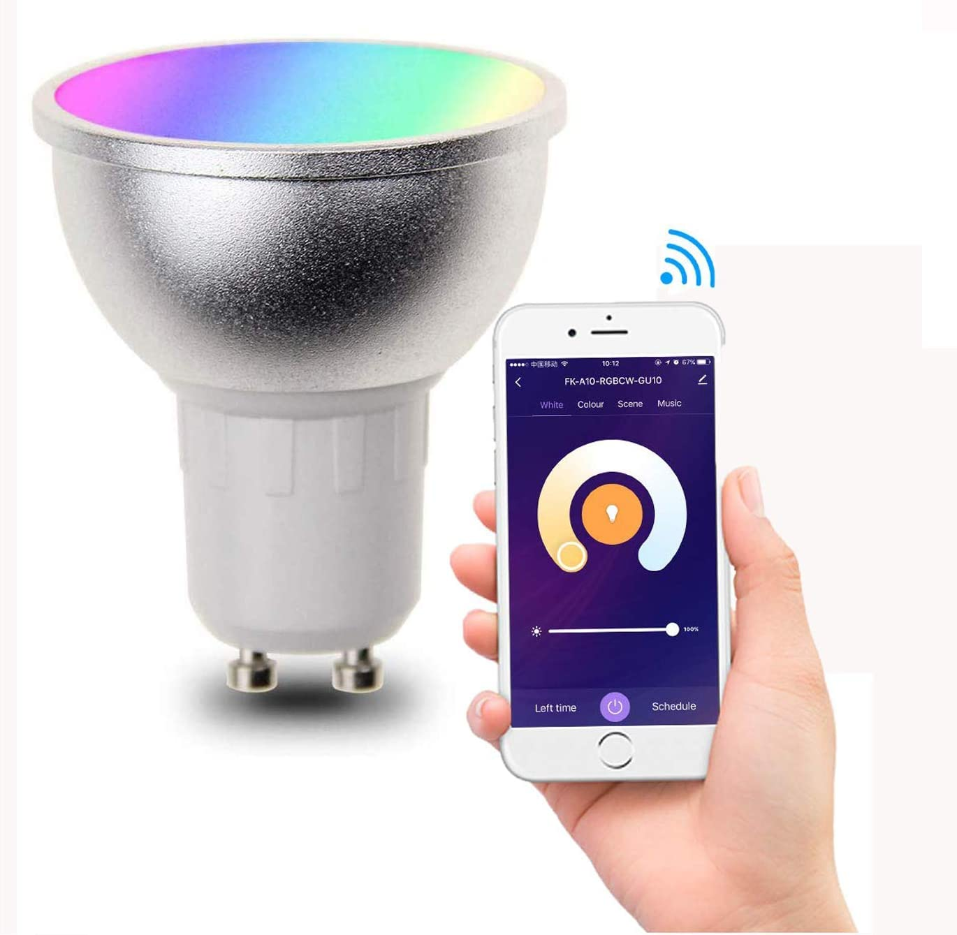 FRANKEVER Smart LED Light Bulbs WiFi Spotlight MR16 GU10 Base AC85-265V, RGBCW Dimmable Color Changing,Compatible with Alexa, Google Home, IFTTT,No Hub Required (GU10, 2 Pack)