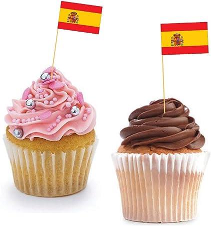 Español para cupcakes banderas – España/horno/decoración ...