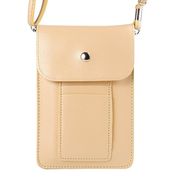 075aa6d29c5a ZZJ Women's PU Leather Wallet Case Purse w/Shoulder Strap for Apple iPhone  XR/XS Max / 7 8 Plus/HTC U12+ / Huawei Mate 20 / P20 Pro/Nokia Plus/LG V40  ...