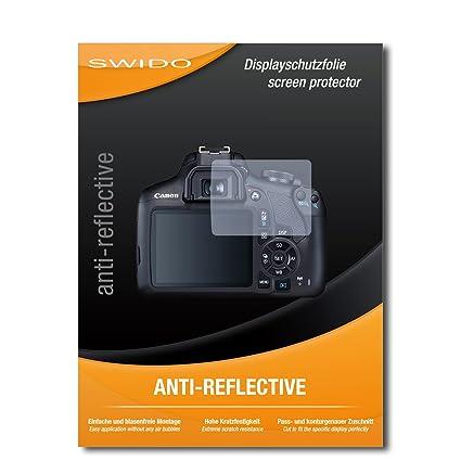 SWIDO® Protector de Pantalla para Canon EOS 2000D [Anti-Reflex ...