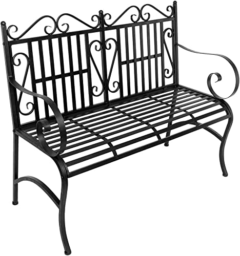 NewMultis 2-Seater Foldable Outdoor Patio Garden Bench Porch Chair Seat