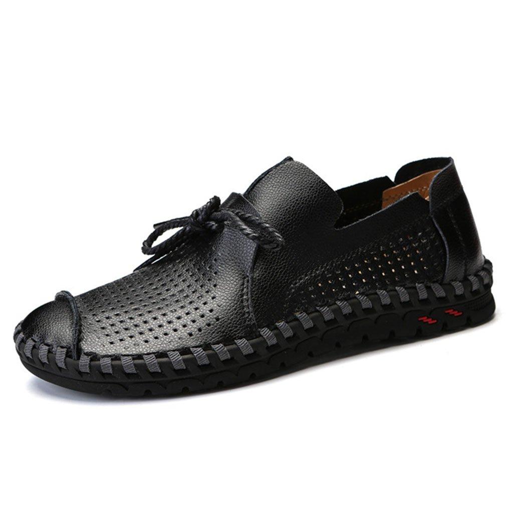 Zapatos para Hombre Zapatos Casuales Elegantes de Cuero Zapatos de conducción con Cordones Ocasionales Respirables Blanco, Negro, Amarillo 48 EU Segundo