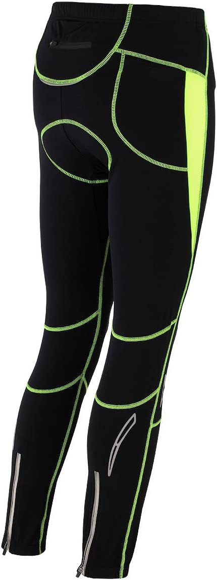 Pantalon de cyclisme Thermique Avec rembourrage 3D et r/éflecteurs Long Pro T Airtracks