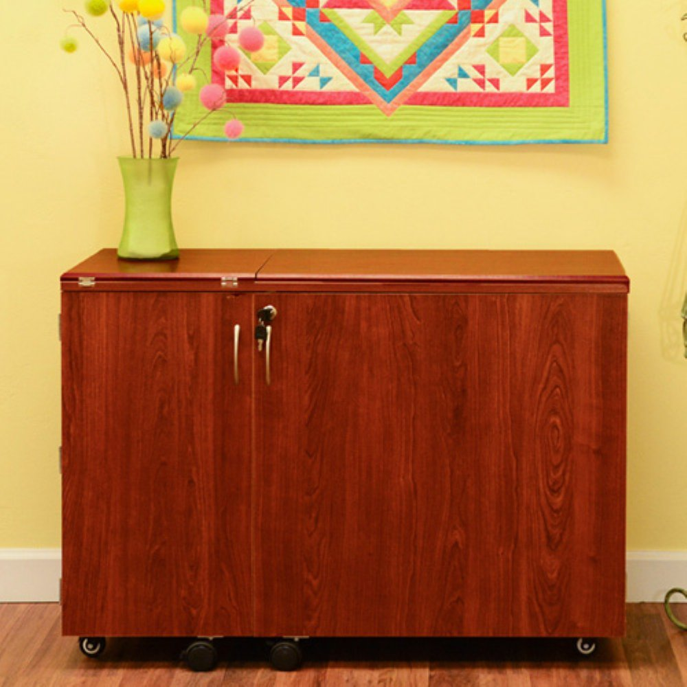 amazoncom kangaroo kabinets wallaby ii sewing cabinet with 3 position airlift