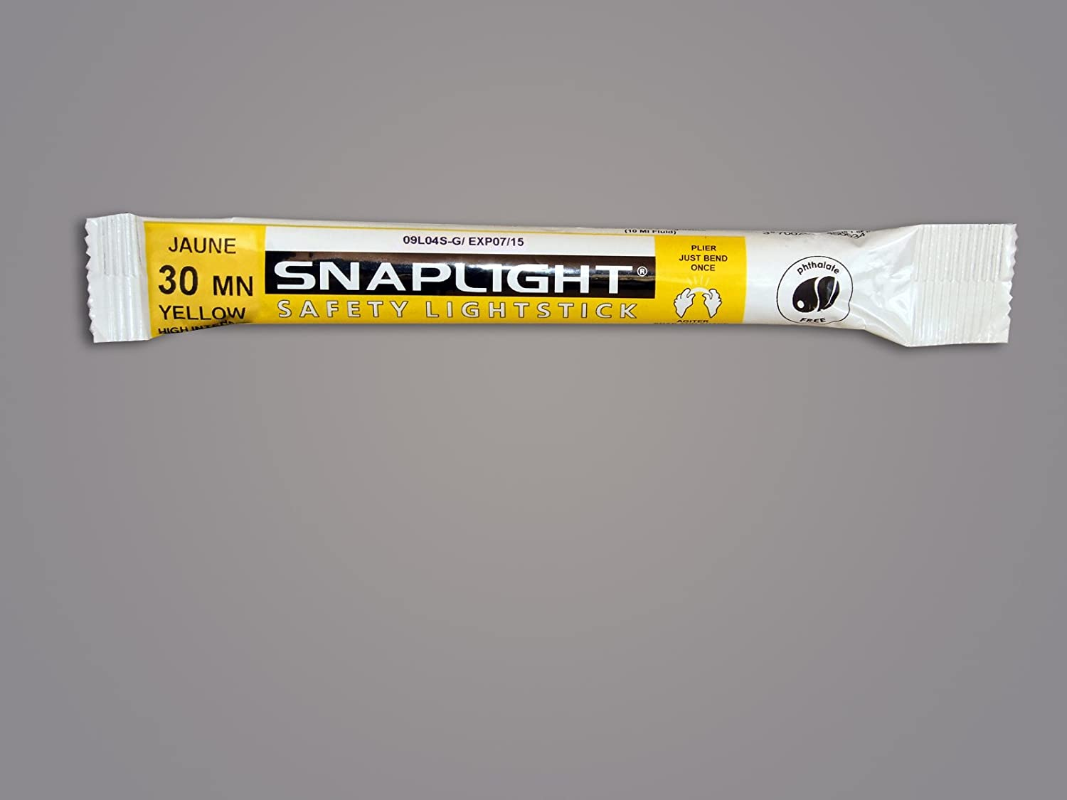 Cyalume SnapLight Industrial Grade Chemical Light Sticks, Yellow, High Intensity, 6' Long, 30 Minute Duration (Pack of 10) 6 Long Cyalume Technologies