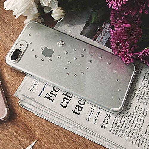 Bling-My-Thing iP7-l-pp-cl-cry Papillon Serie Luxuriöses und einzigartiges Design veredelt mit original Swarovski Kristallen, modisches Case für Apple iPhone 7 Plus Pure Brilliance