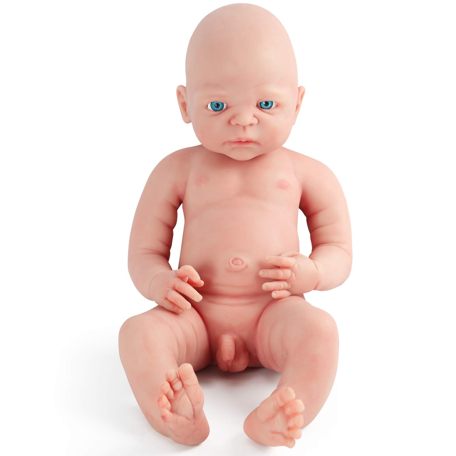 66c1fc76fa0d Vollence 22 inch Realistic Reborn Baby Doll,PVC Free,Solid Platinum Liquid  Full Body Silicone Real Baby Dolls,Lifelike Soft Handmade Silicone Baby doll  ...
