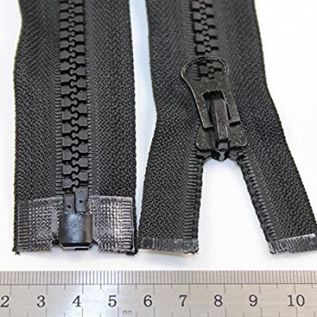 10 x 2 Way Black Open End Chunky Zips 36 inch size 8 sliders for Jackets//Coats