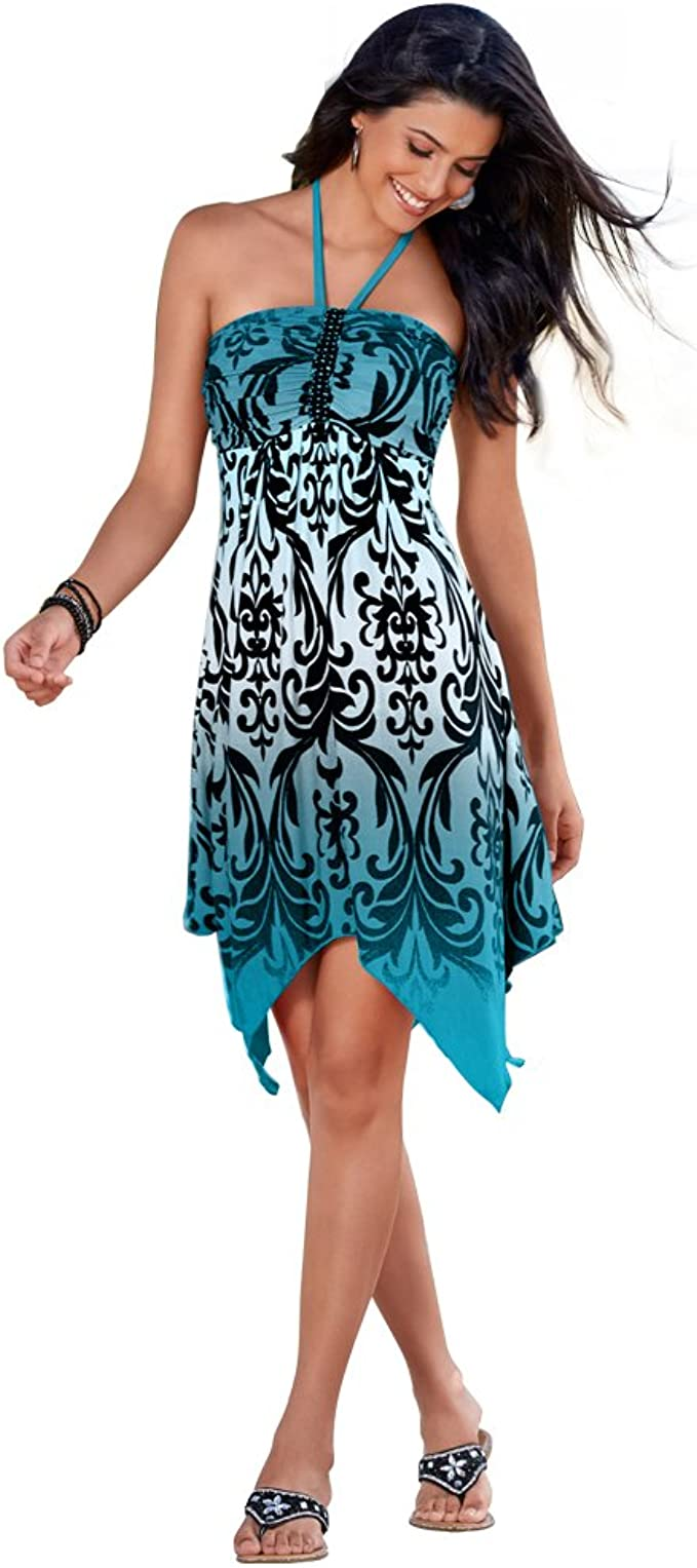 Women's Top Pretty Handkerchief Halter Beach Dress