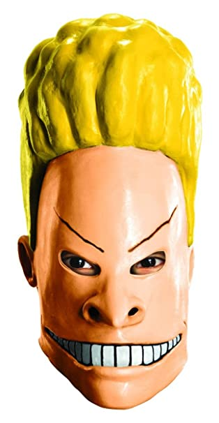 83e8bca835d13 Amazon.com  Rubie s Costume MTV Beavis and Butt-Head Adult Beavis Mask  Multicolored One Size  Clothing