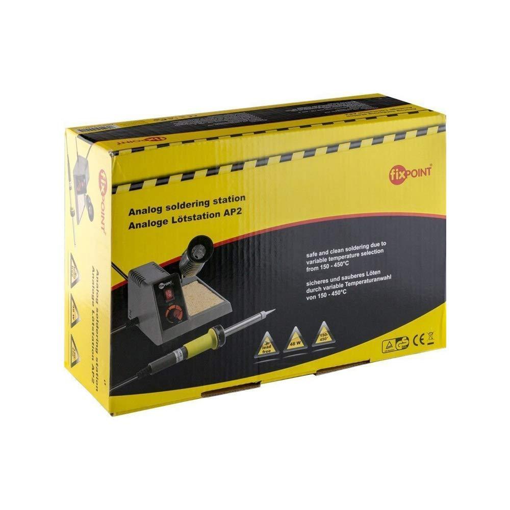 Fixpoint 51091, Estación de soldadura ajustable de 150-450 grados de calentamiento rápido para soldadura profesional, gris: Amazon.es: Industria, ...