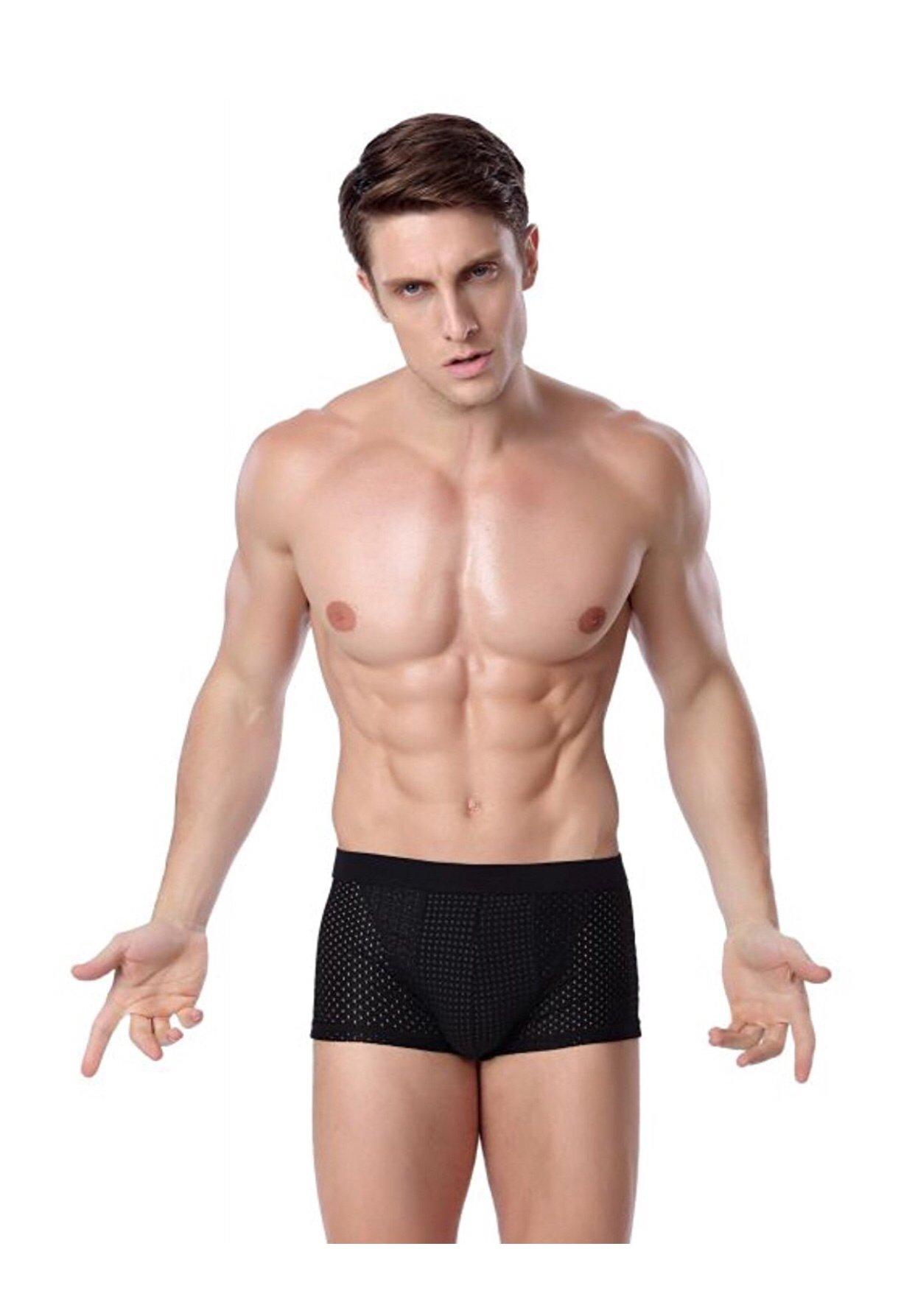 New VKWEIKU Men Underwear Magnetic Separate scrotum care Shorts briefs