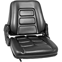 Bestauto Universal Forklift Seat Folding Replacement Forklift Fulll Suspension Seat fits Many Heavy Mechanical Seat