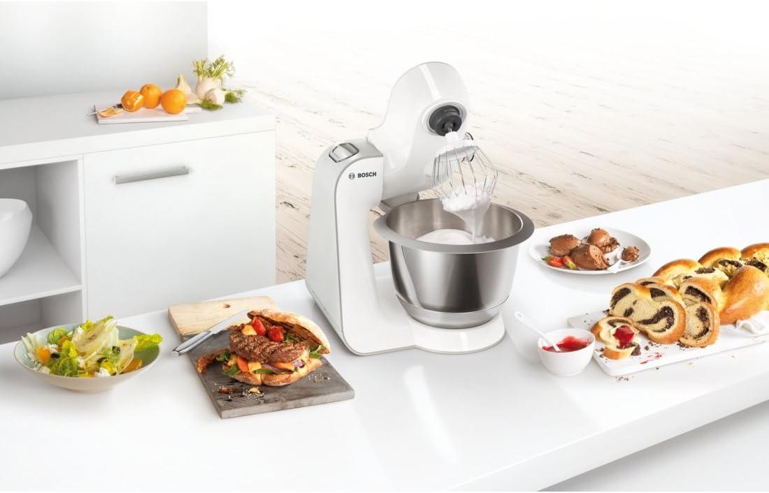 Bosch MUM58224 - Robot de cocina (3,9 L, Blanco, Botones, 1,1 m ...