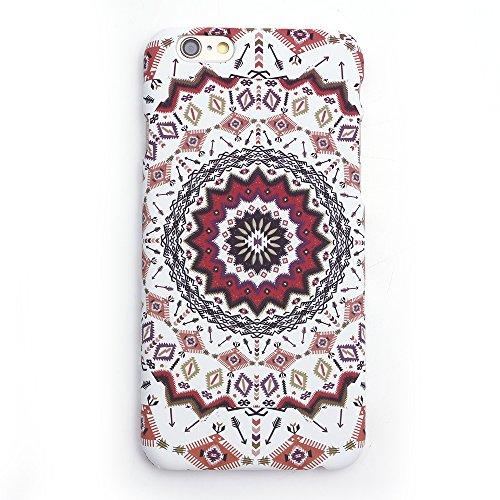 iProtect TPU Schutzhülle Apple iPhone 6, 6s Hard Case - im bunten Mandala - Kaleidoskop Effekt - Design