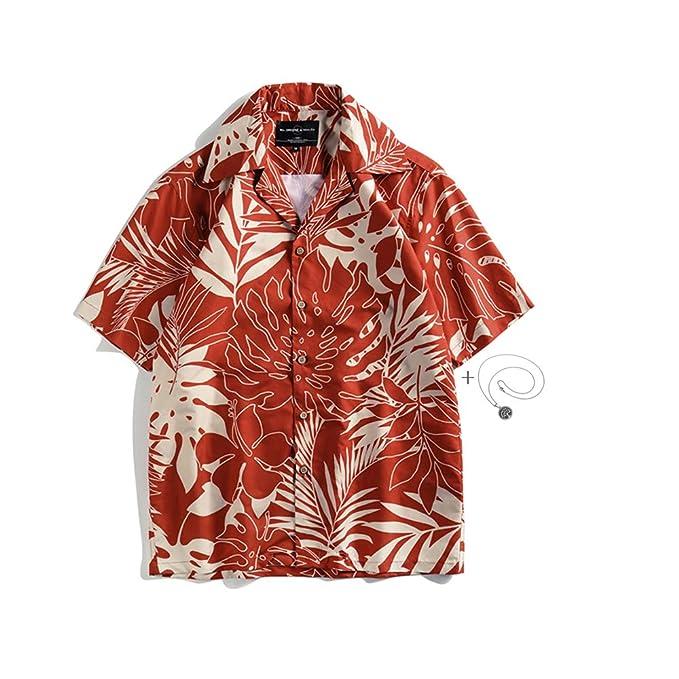 new product e4823 6d629 Morbuy Camicia Hawaiana da Uomo, Manica Corta Camicie Shirt ...