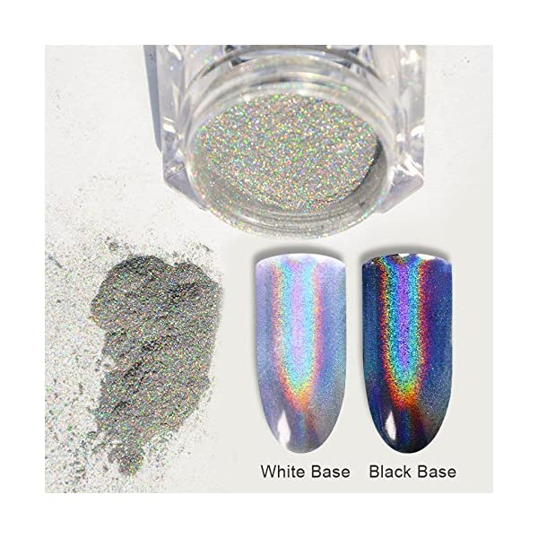 BORN PRETTY 9 Boxes Pearl Powder Nail Mirror Effect Colorful Nails Art Glitter Iridescent Metallic Manicuring Pigment 1G 4